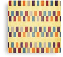 Retro rectangles pattern Canvas Print