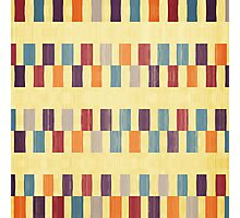 Retro rectangles pattern Photographic Print