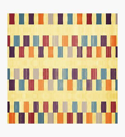 Retro rectangles pattern Photographic Print
