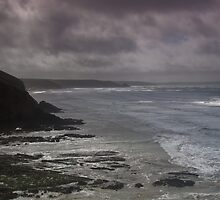 Storm at Newgale beach, Pembrokeshire by Colin Bowdery