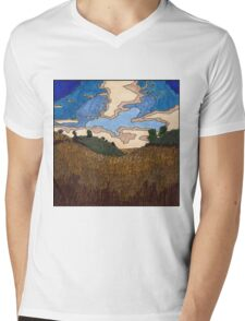 Wheat Field Mens V-Neck T-Shirt