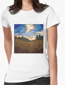 Wheat Field Womens Fitted T-Shirt