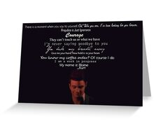 Quotes Klaine  Greeting Card