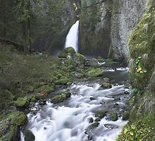 Wahclella Falls in autumn , Oregon , United States of America by Christopher Barton