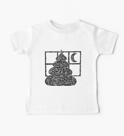 Christmas Tree Evening Baby Tee
