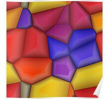 3d colorful shapes Poster