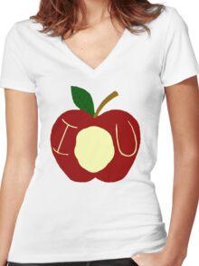 BBC Sherlock - Moriarty's Apple Women's Fitted V-Neck T-Shirt