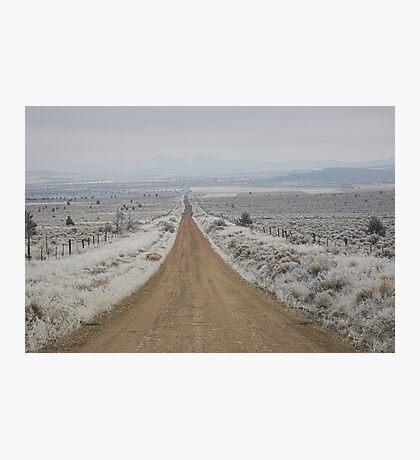 dirt road, Sagebrush Sea , Oregon , United States of America   Photographic Print