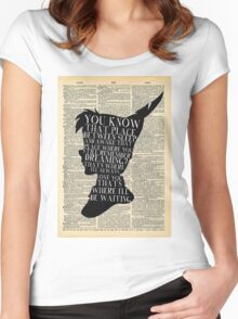 Peter Pan Vintage Dictionary Page Style -- That Place Women's Fitted Scoop T-Shirt