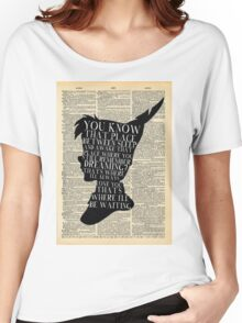 Peter Pan Vintage Dictionary Page Style -- That Place Women's Relaxed Fit T-Shirt