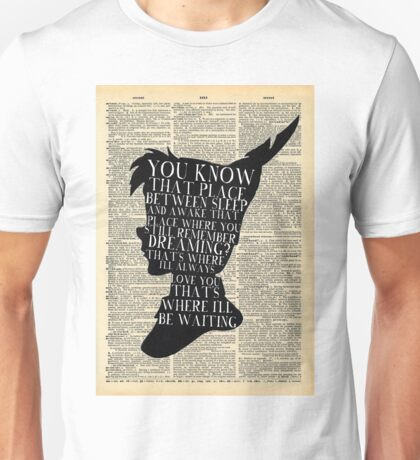 Peter Pan Vintage Dictionary Page Style -- That Place Unisex T-Shirt