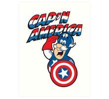 Cap'n America Art Print