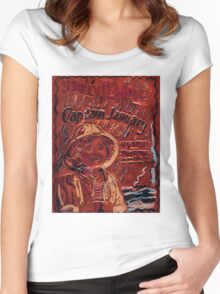 CAPTAIN JANUARY-SHIRLEY TEMPLE Women's Fitted Scoop T-Shirt