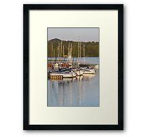 yachts at lake Framed Print