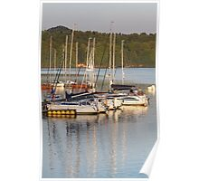 yachts at lake Poster