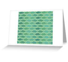 Fishy Business - Greens Greeting Card