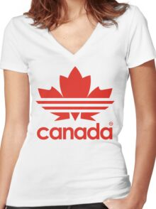 Canada Day - 1st July Women's Fitted V-Neck T-Shirt