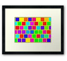 Colorful squares pattern Framed Print
