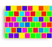 Colorful squares pattern Canvas Print