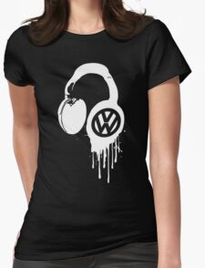 VW Bleeding Headphone Womens Fitted T-Shirt