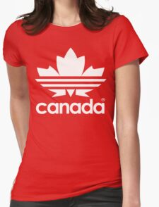 Canada Day - 1st July - White Womens Fitted T-Shirt