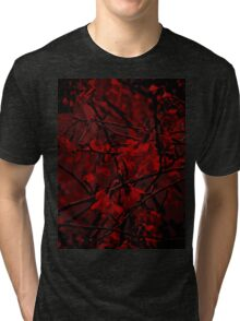 Dark Floral Tri-blend T-Shirt