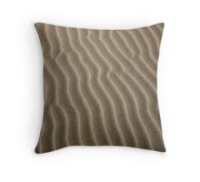wind sculpted patterns in the sand, Oregon Dunes Throw Pillow
