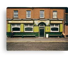 Waiting for the pub to open, UK, 1980s Canvas Print