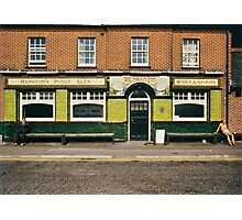 Waiting for the pub to open, UK, 1980s Photographic Print