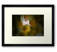 The Wattle Flower Angel Framed Print