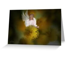 The Wattle Flower Angel Greeting Card