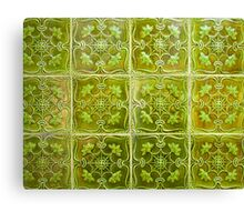 green ceramic. tiles in lisbon Canvas Print