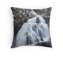 Stave Falls in winter, British Columbia Throw Pillow