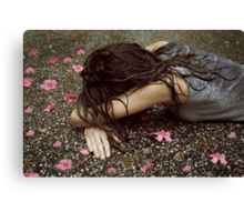 face down in the flowers Canvas Print
