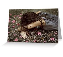 face down in the flowers Greeting Card