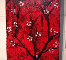 RED BLOSSOMS by LenasCreations