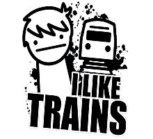 i like a trains bitch Photographic Print