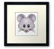 Mouse Emoji Framed Print