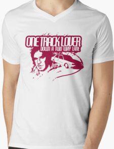 One Track Lover Mens V-Neck T-Shirt