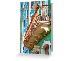 iron balcony Greeting Card