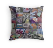 50 Graffiti Macros Throw Pillow
