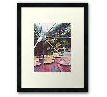 Rainy Mad Tea Party Framed Print