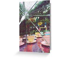 Rainy Mad Tea Party Greeting Card
