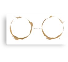 Coffee Ring-My Morning Goggles Canvas Print