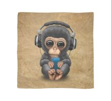 Chimpanzee Dj with Headphones and Cell Phone Scarf