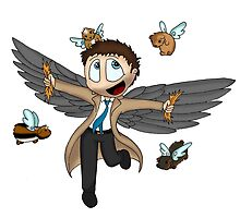 Castiel and the flight of the guinea pigs by MistyFigs