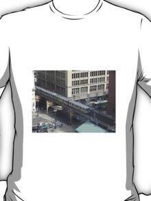 Chicago Illinois USA Street Scene From Above T-Shirt