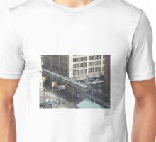 Chicago Illinois USA Street Scene From Above Unisex T-Shirt