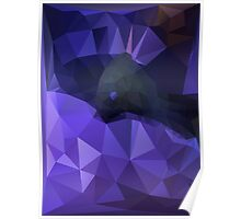 Low Poly Moray Eel Poster