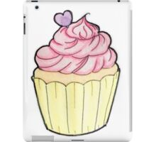 Vanilla & strawberry cupcake  iPad Case/Skin